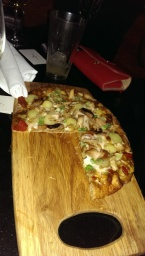 Amadou's Spicy African Chicken Pizza on the menu. Not bad!