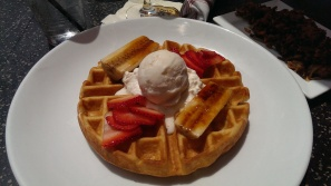 Ice Cream & waffles-Can never go wrong!