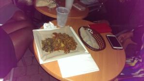 Delicious Ethiopian food on deck!
